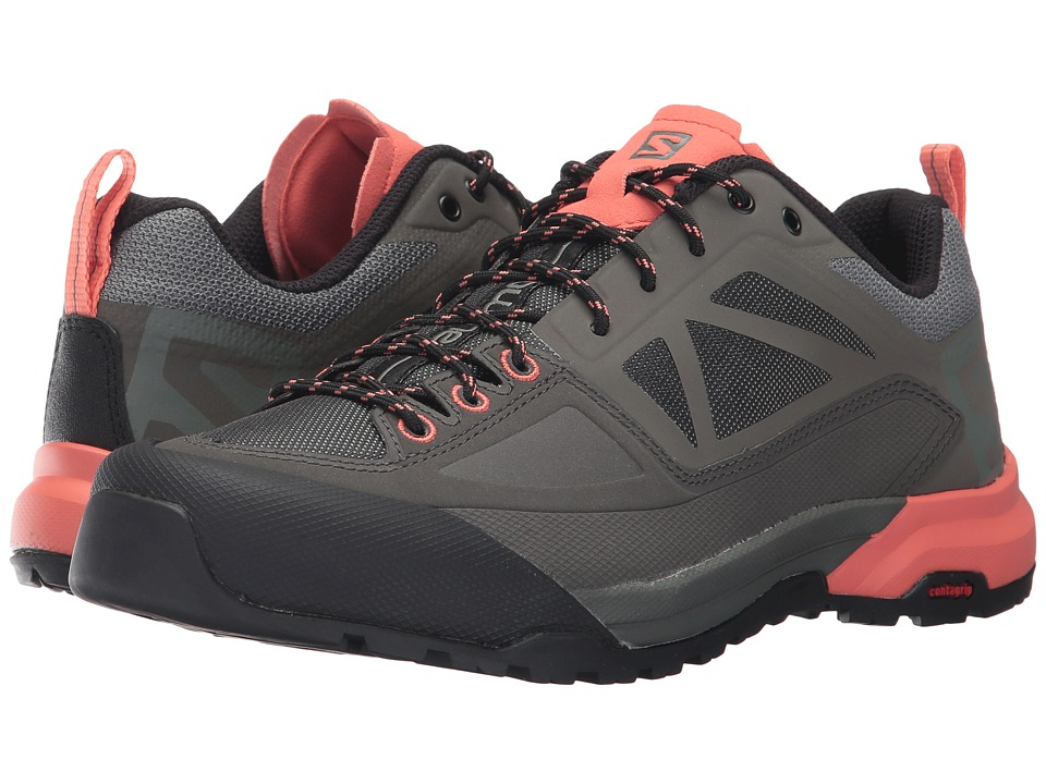 Salomon X Alp Spry (Castor Gray/Beluga/Living Coral) Women's Shoes