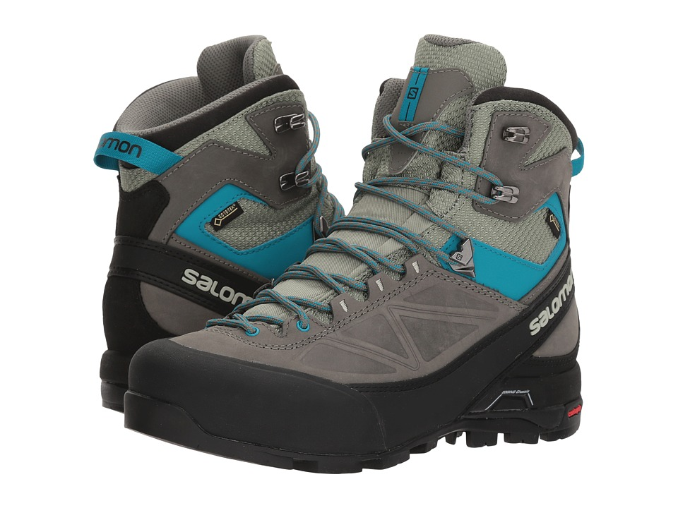 Salomon - X Alp Mtn GTX(r) (Shadow/Castor Gray/Enamel Blue) Womens Shoes