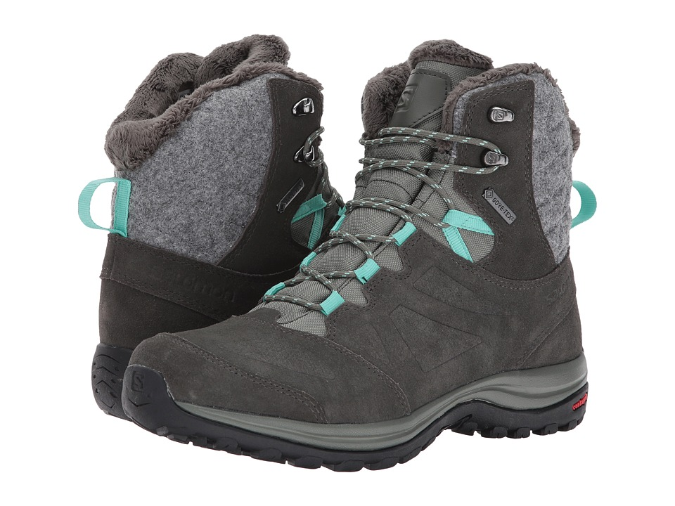 Salomon Ellipse Winter GTX (Castor Gray/Beluga/Biscay Green) Women's Shoes
