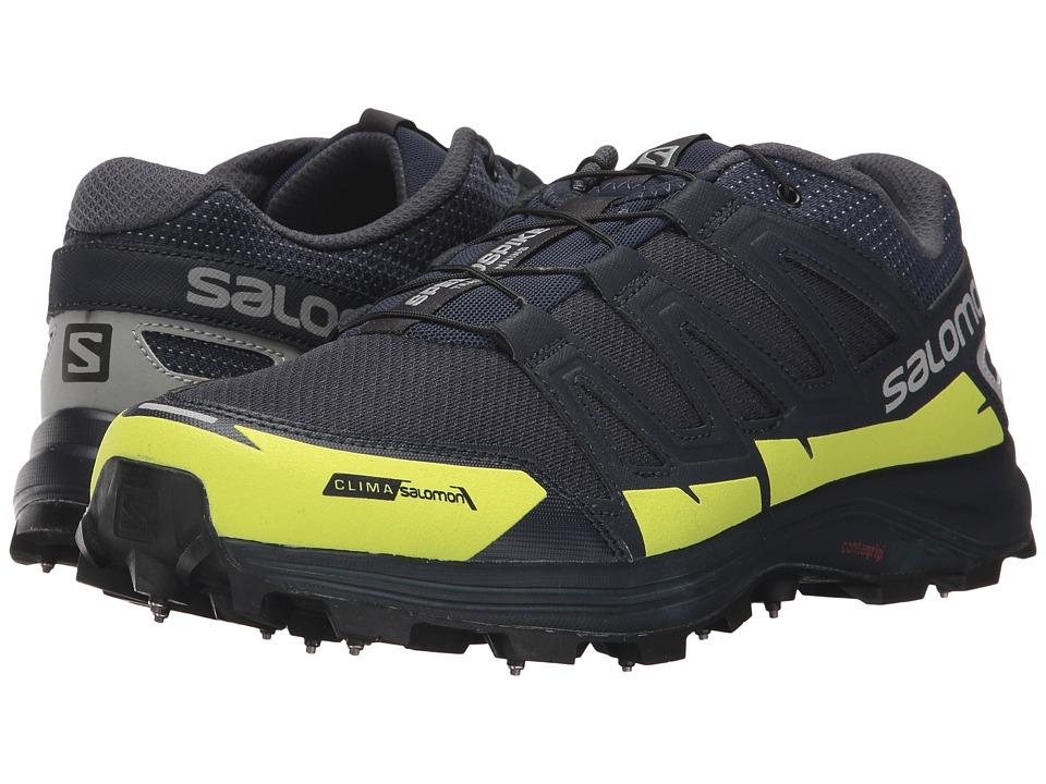 Salomon Speedspike CS (Navy Blazer/Reflective Silver/Lime Punch) Shoes