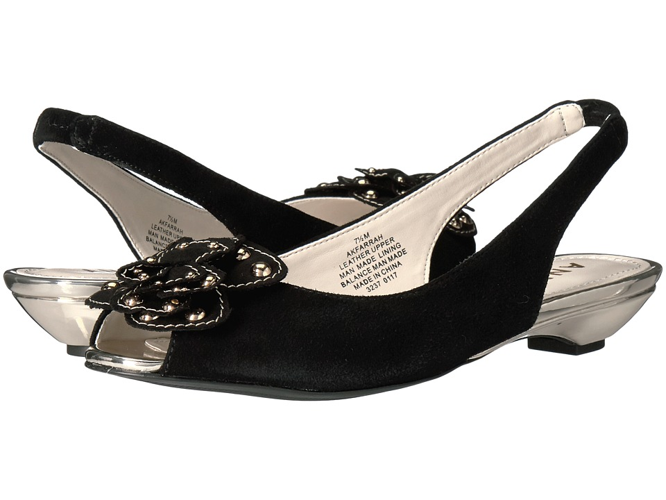 Anne Klein Farrah (Black Suede) Women