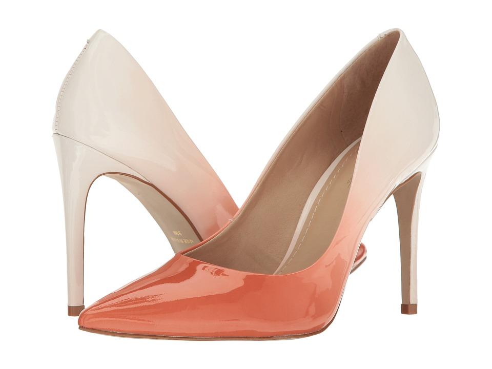 Massimo Matteo Mid Heel Pump (Peach) Women