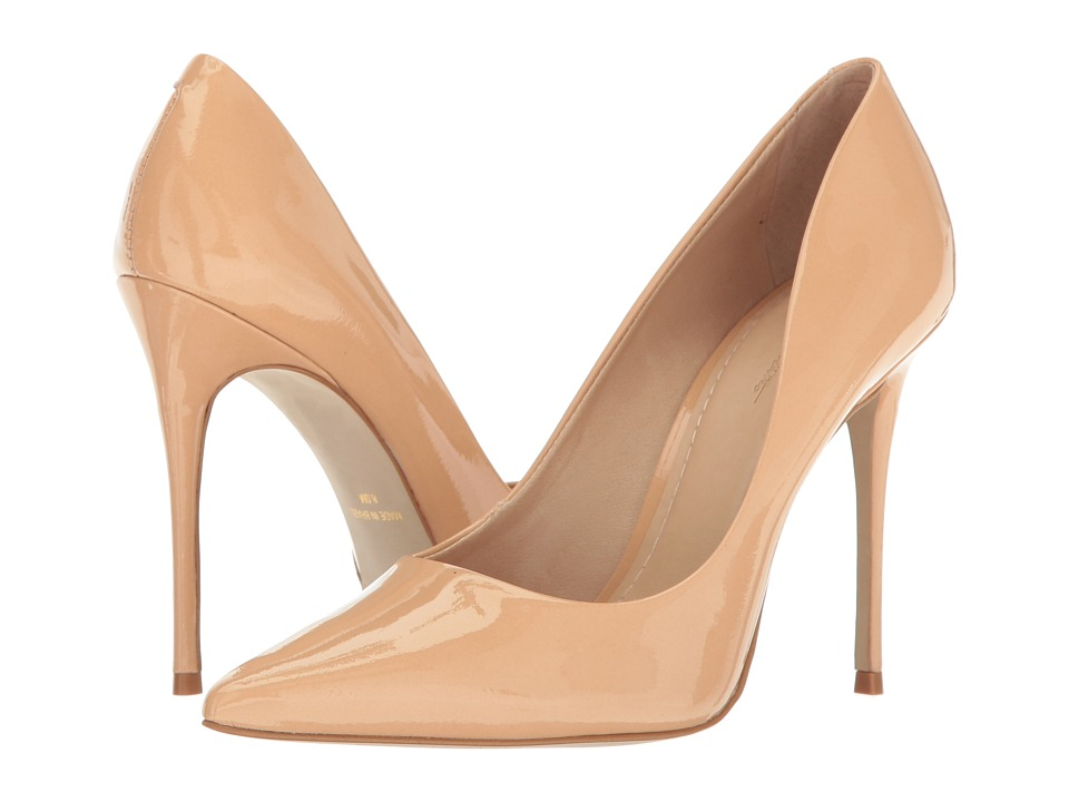 Massimo Matteo Pointy Toe Pump 17 (Nude Patent) Women's Shoes