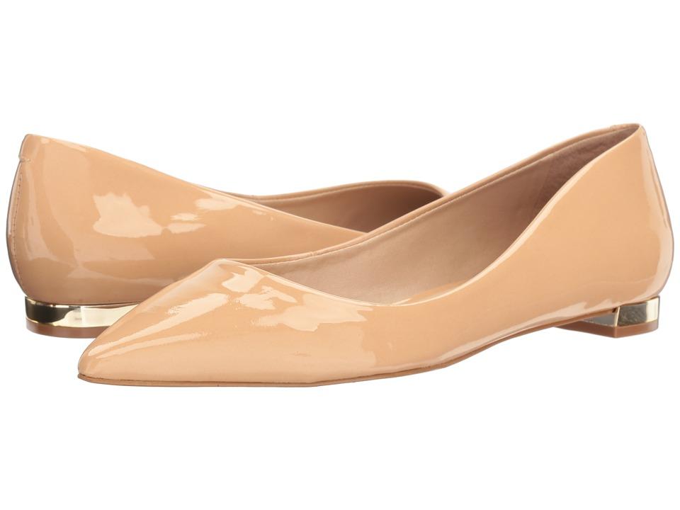 Massimo Matteo Pointy Toe Flat 17 (Nude Patent) Flats