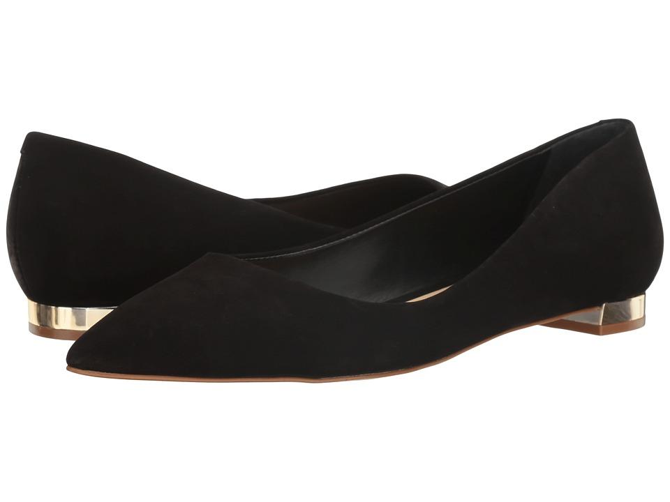 Massimo Matteo Pointy Toe Flat 17 (Black Nubuck) Women