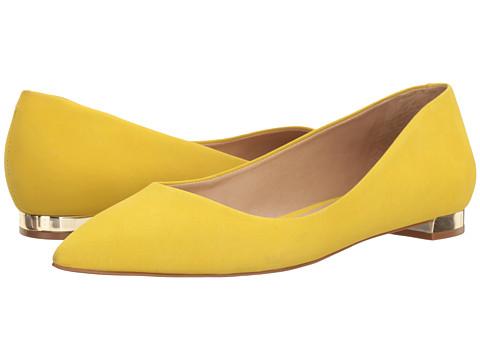 Massimo Matteo Pointy Toe Flat 17 - Sunshine Nubuck