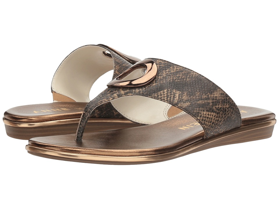 Anne Klein Gia (Light Bronze Reptile) Women