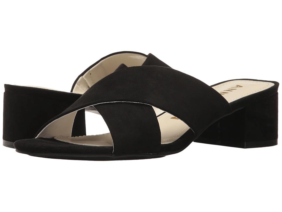 Anne Klein - Sansa (Black Fabric) Womens Shoes