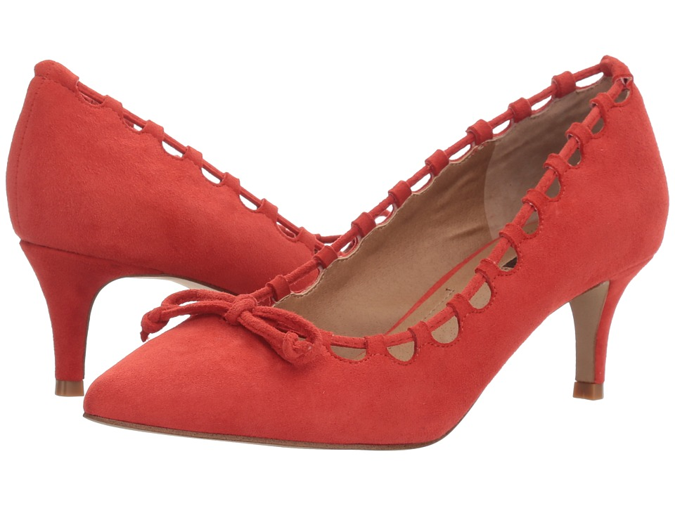 1950s Shoe Styles: Heels, Flats, Sandals, Saddles Shoes Tahari - Rolan Coral Suede Womens 1-2 inch heel Shoes $89.00 AT vintagedancer.com