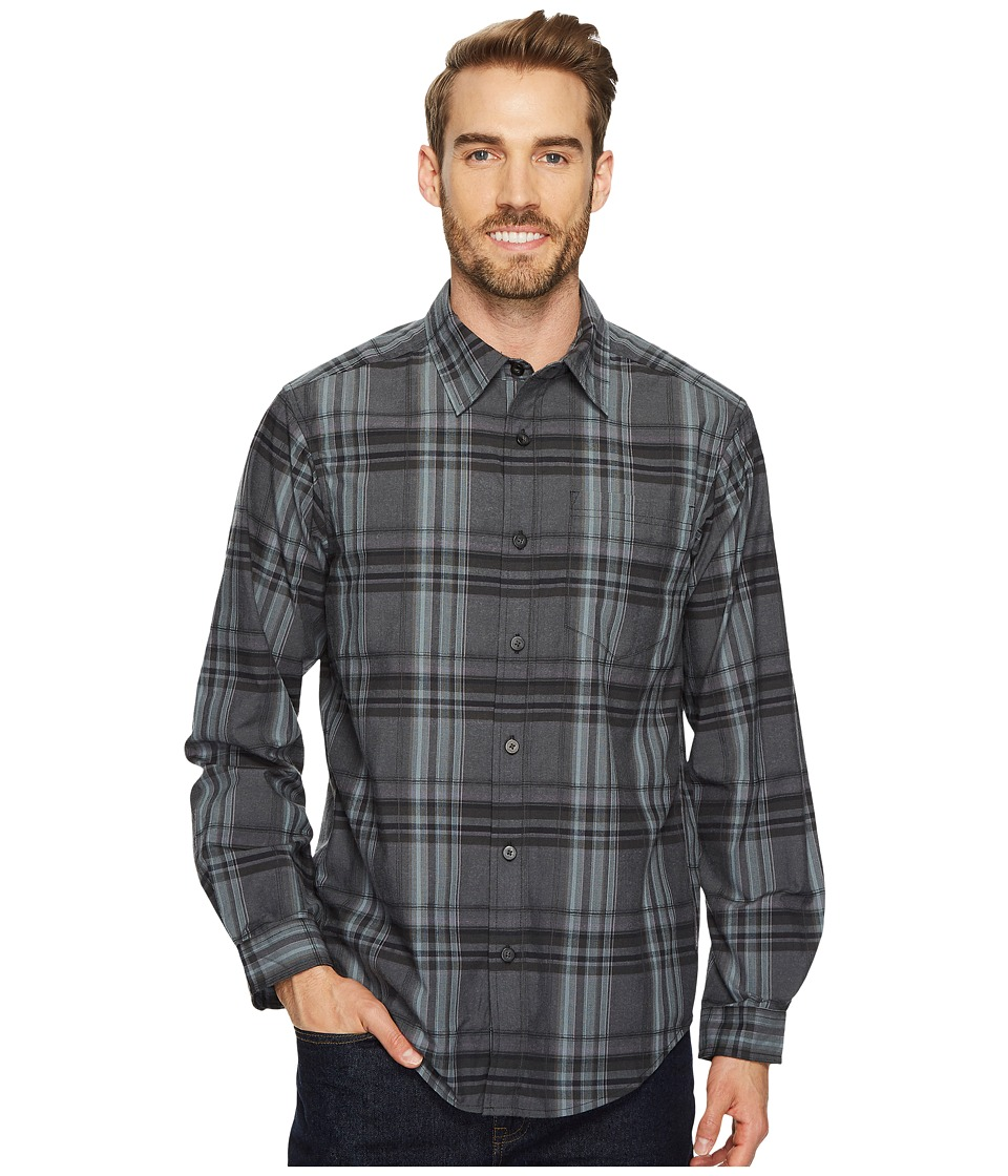 ExOfficio - Kensington Plaid Long Sleeve Shirt (Black) Mens Long Sleeve Button Up
