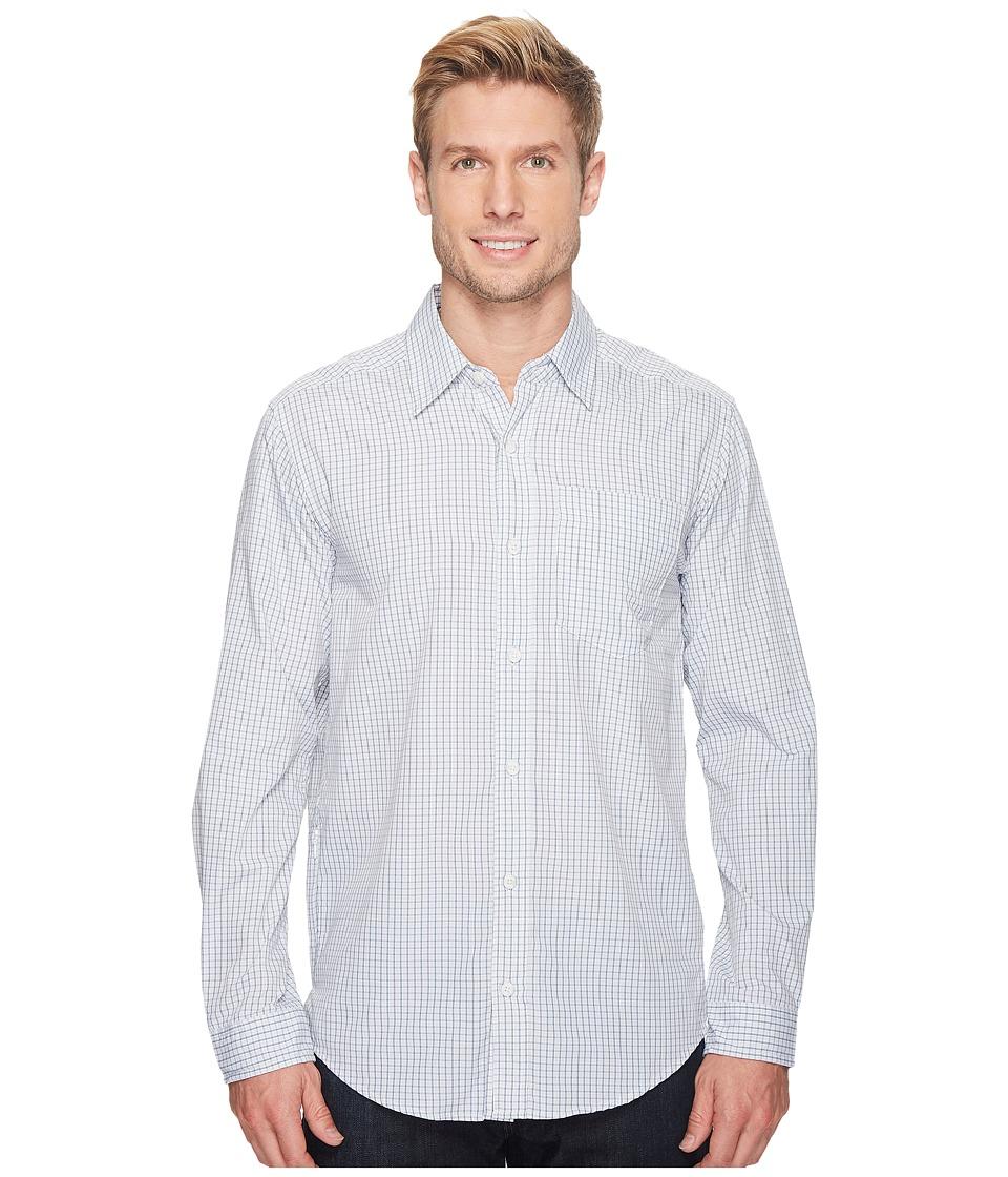 ExOfficio - Salida Plaid Long Sleeve Shirt (Blue Lake) Mens Long Sleeve Button Up