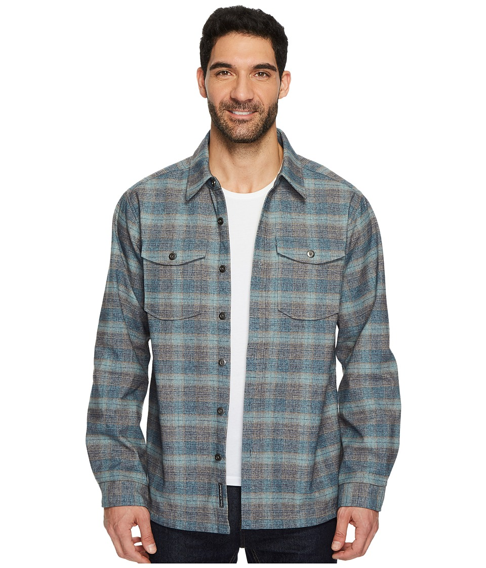 ExOfficio - Bruxburn Plaid Long Sleeve Shirt (Navy) Mens Long Sleeve Button Up