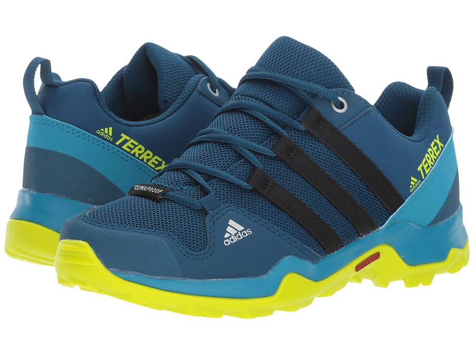 adidas Outdoor Kids Terrex AX2R CP (Little Kid/Big Kid) (Blue Night/Black/Semi Solar Yellow) Boys Shoes