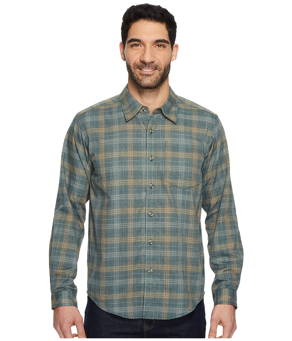 ExOfficio - Okanagan Macro Check Long Sleeve Shirt (Timberline) Mens Long Sleeve Button Up
