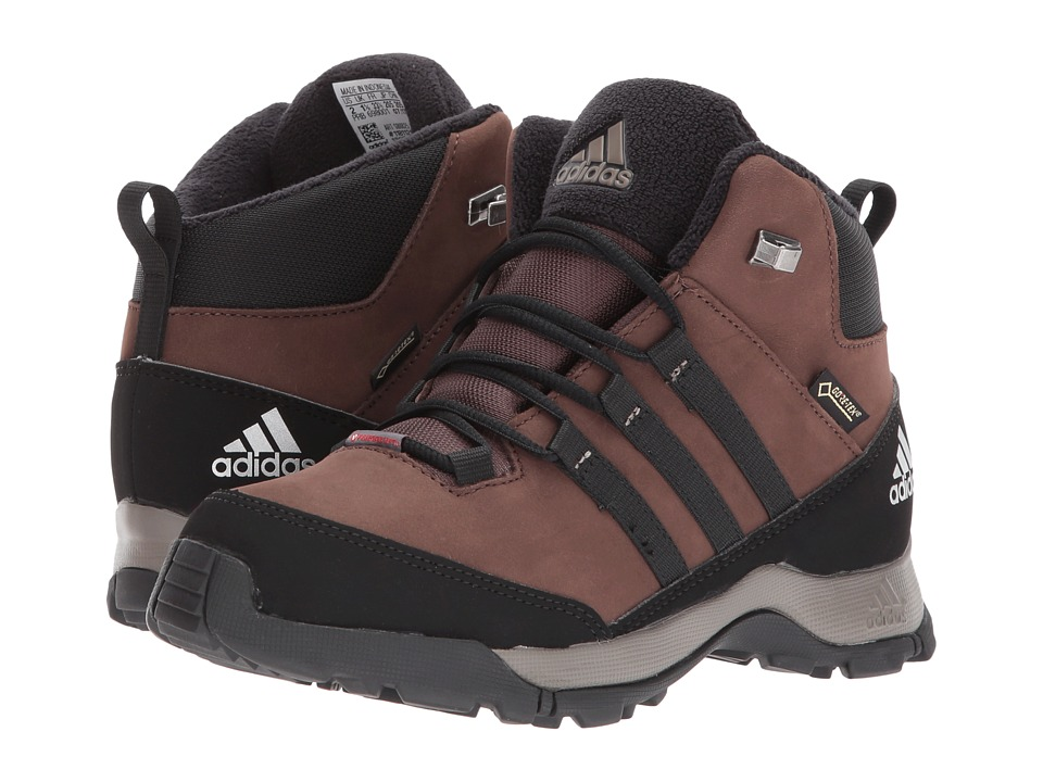 adidas Outdoor Kids CW Winter Hiker Mid GTX (Little Kid/Big Kid) (Brown/Black/Simple Brown) Boys Shoes