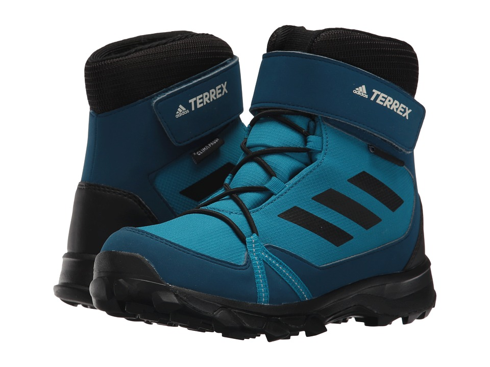 adidas Outdoor Kids Terrex Snow CF CP CW (Little Kid/Big Kid) (Mystery Petrol/Black/Blue Night) Boy's Shoes