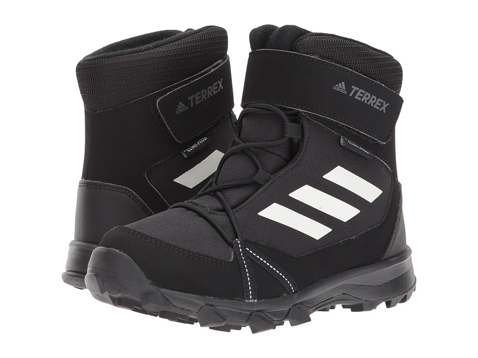 adidas Outdoor Kids Terrex Snow CF CP CW (Little Kid/Big Kid) (Black/Chalk White/Black) Kid's Shoes