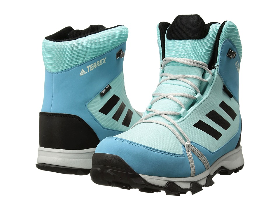 adidas Outdoor Kids Terrex Snow CP CW (Little Kid/Big Kid) (Clear Aqua/Black/Vapour Blue) Girl's Shoes