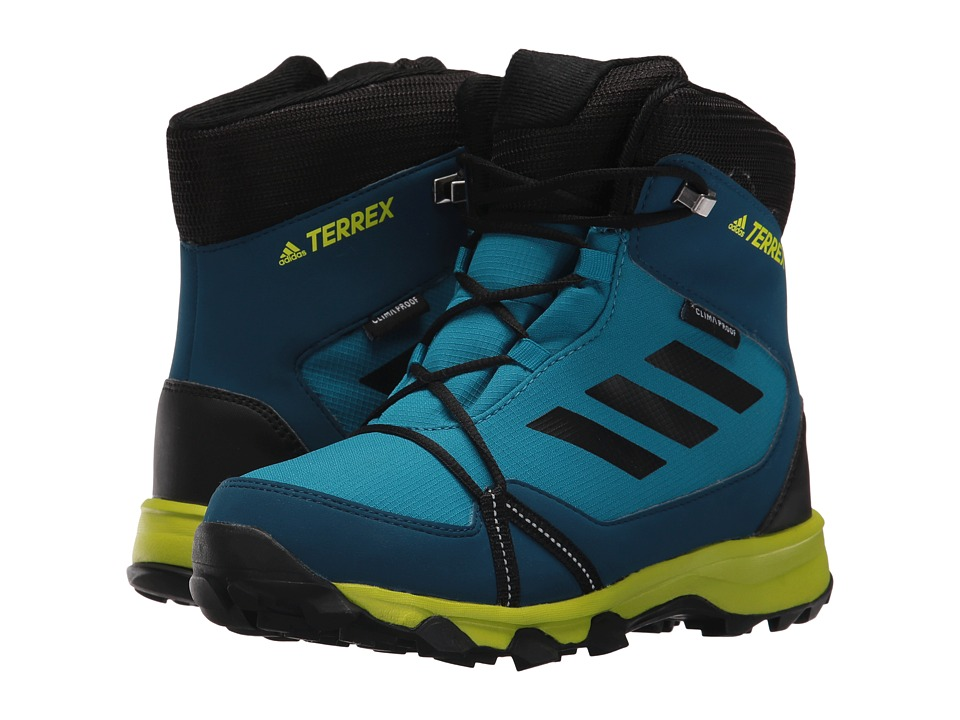 adidas Outdoor Kids Terrex Snow CP CW (Little Kid/Big Kid) (Mystery Petrol/Black/Blue Night) Boy's Shoes