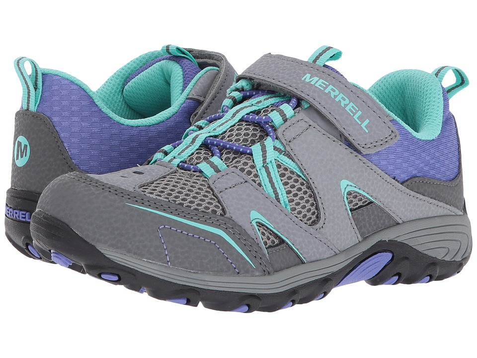Merrell Kids - Trail Chaser (Little Kid) (Grey/Multi) Girls Shoes