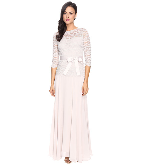 Sangria Beaded Lace Gown