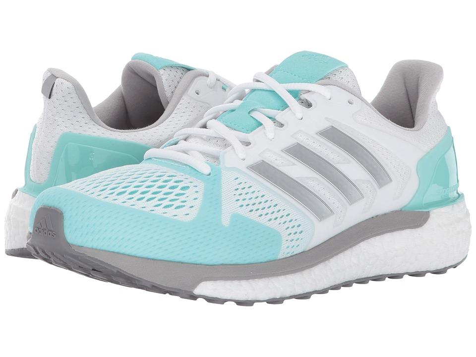 adidas Running Supernova ST (Footwear White/Silver Metallic/Energy Aqua) Women