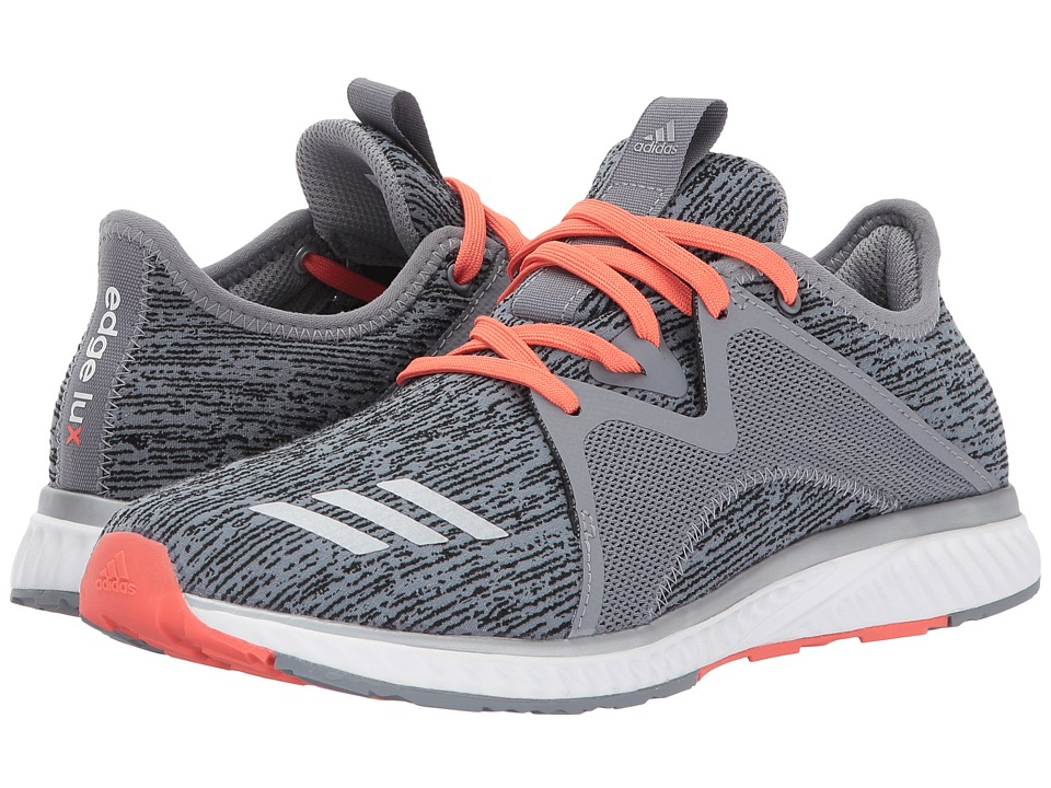 adidas Running Edge Luxe 2 (Grey Three/Silver Metallic/Easy Coral) Women