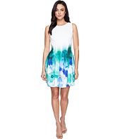 Calvin Klein - Sleeveless Fit & Flare Border Print Dress CD7MHA6U