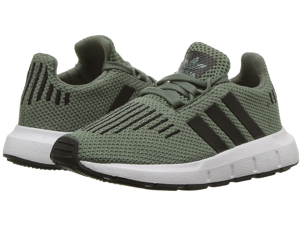 adidas Originals Kids Swift (Toddler) (Trace Green/Black/White) Kids Shoes