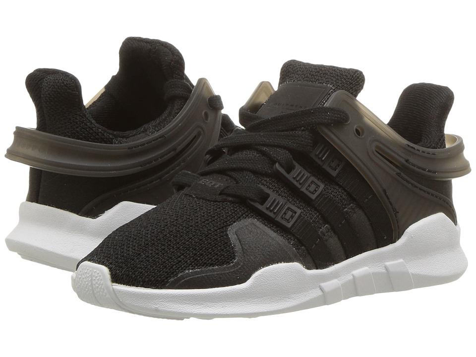 adidas Originals Kids EQT Support (Toddler) (Black/Black) Kids Shoes