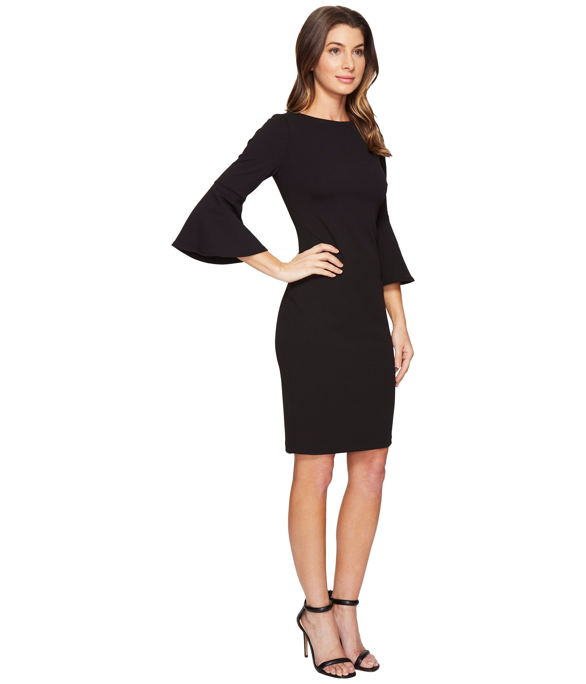 Calvin Klein Bell Sleeve Sheath Dress CD7C133E