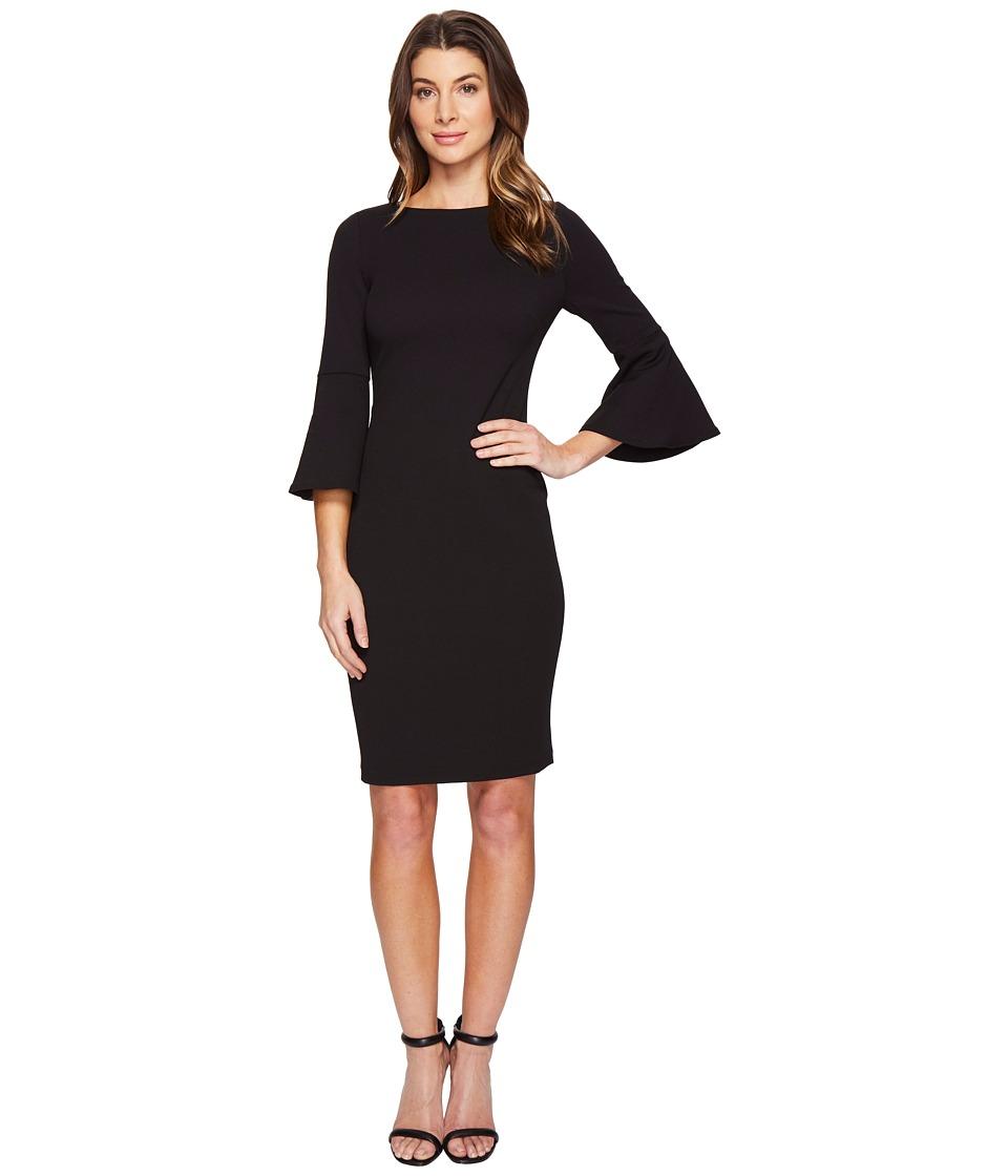 Calvin Klein Bell Sleeve Sheath Dress CD7C133E (Black) Women