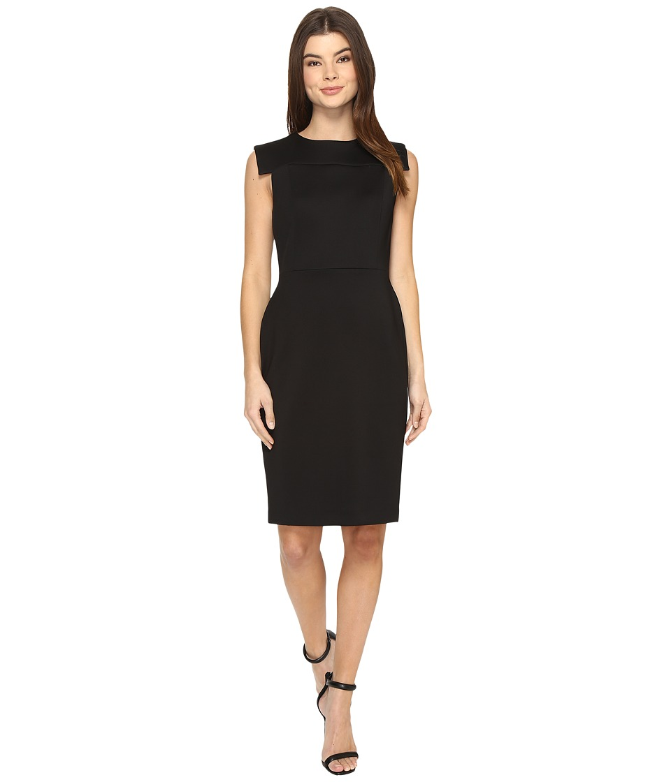 Calvin Klein Extended Armhole Sheath Dress CD7M156B (Black) Women