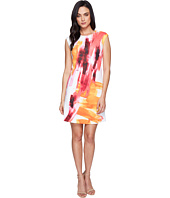 Calvin Klein - Cap Sleeve A-Line Dress in Brush Stroke Print CD6M7L8U