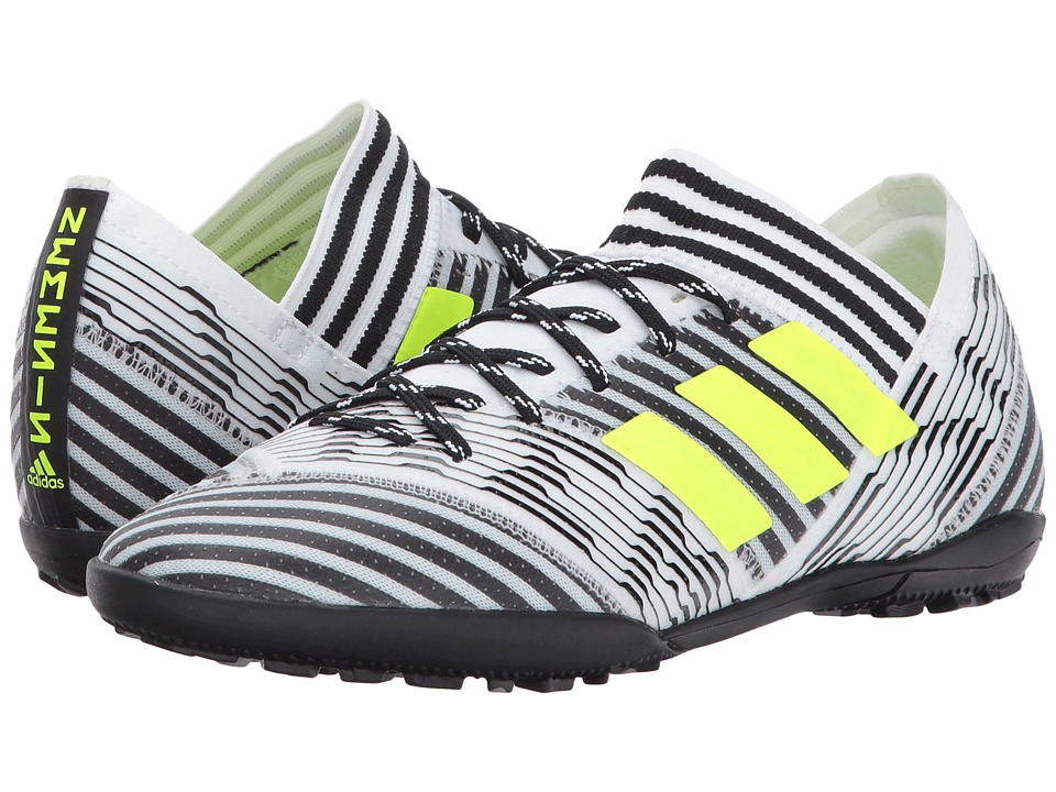 adidas Kids Nemeziz Tango 17.3 TF J Soccer (Little Kid/Big Kid) (Footwear White/Solar Yellow/Core Black) Kids Shoes