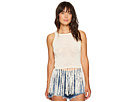 Yoko Tape Yarn Long Fringed Sweater Tank Top