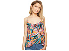 "Ida ""Jungle Sunrise"" Printed Rayon Crepe Double Layer Top"