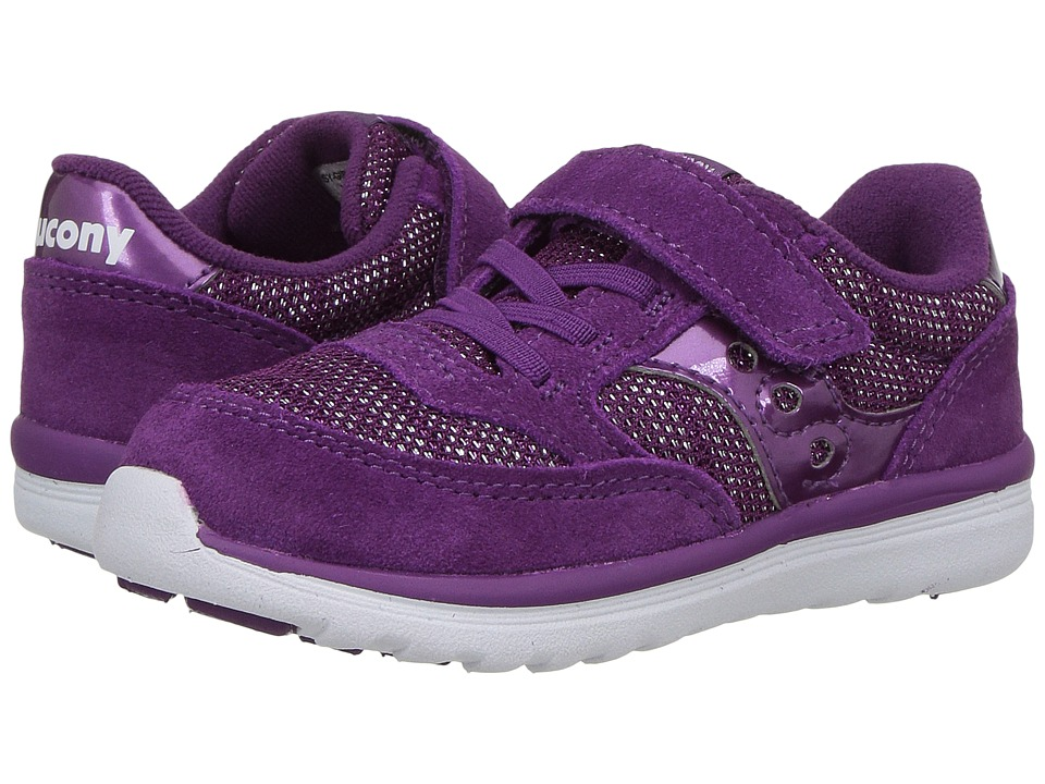 Saucony Kids Jazz Lite (Toddler/Little Kid) (Purple Metallic) Girls Shoes