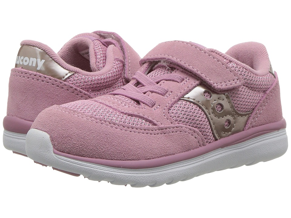 Saucony Kids Jazz Lite (Toddler/Little Kid) (Blush Metallic) Girls Shoes