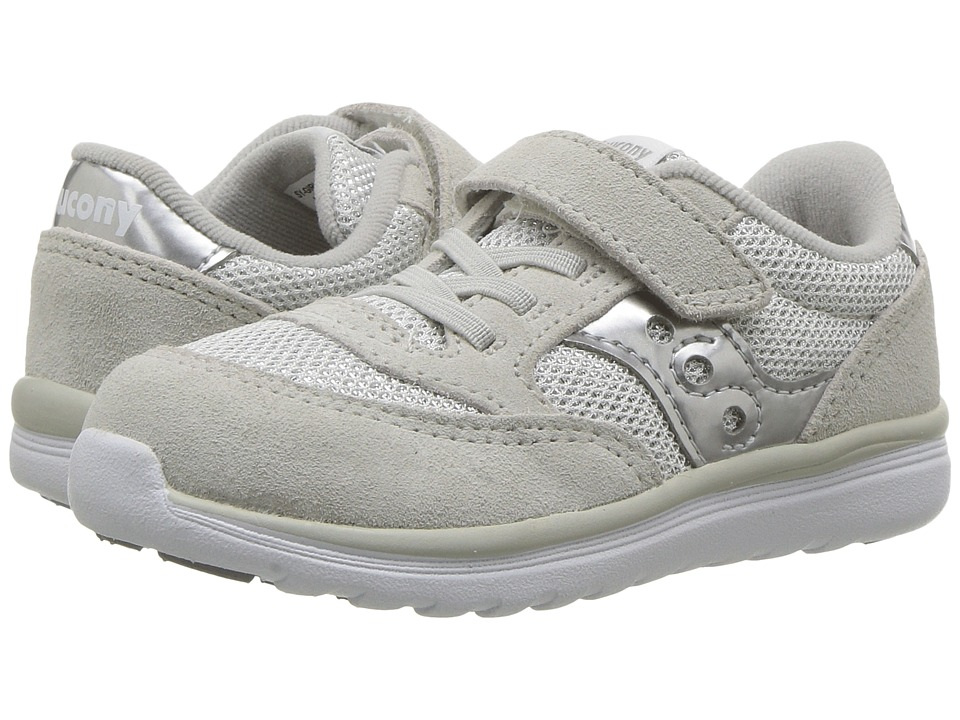 Saucony Kids Jazz Lite (Toddler/Little Kid) (Silver Metallic) Girls Shoes