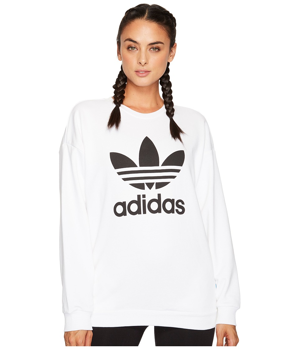adidas Originals Trefoil Sweater (White) Women
