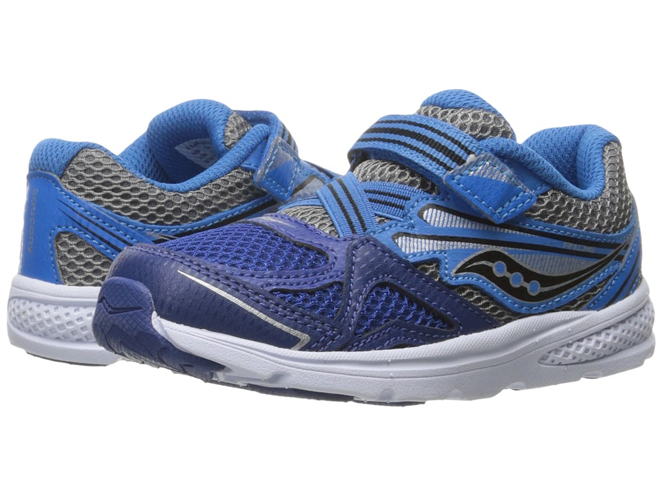 Saucony Kids - Ride 9 (Toddler/Little Kid) (Navy/Blue) Bo...