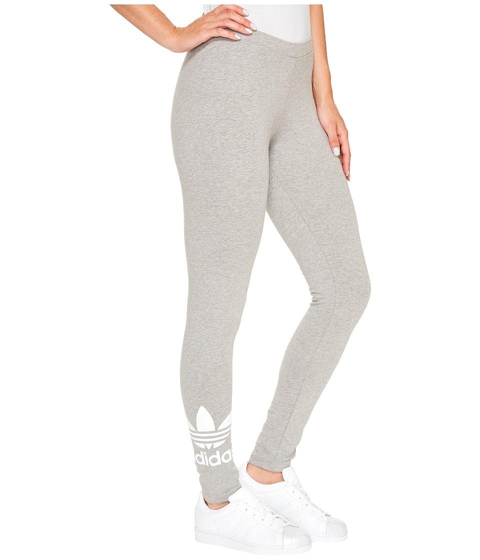 adidas Originals Trefoil Leggings (Medium Grey Heather) Women