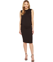 Halston Heritage - Sleeveless Fitted Drape Jersey Dress