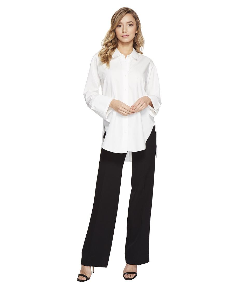 Halston Heritage - Long Sleeve Wide Cuff Cotton Shirt