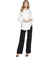 Halston Heritage - Long Sleeve Wide Cuff Cotton Shirt