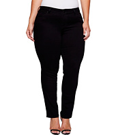 Liverpool - Plus Size Sadie Straight Perfect Black Jeans in Black Rinse