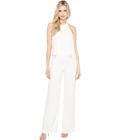 Halston Heritage - Sleeveless High Halter Neck Flowy Jumpsuit