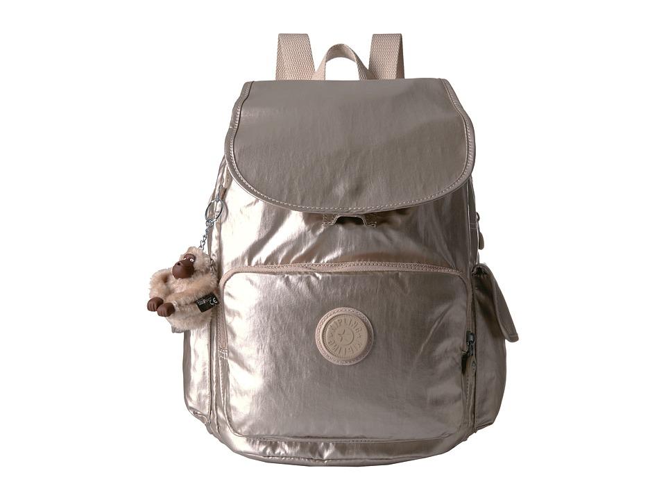 Kipling Ravier Backpack (Sparkly Gold) Backpack Bags