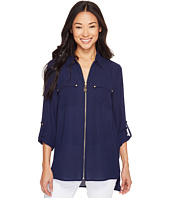 MICHAEL Michael Kors - Dog Tag Zip Top
